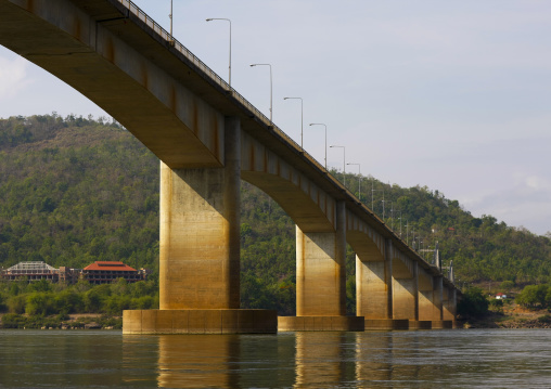 Bridge over mekong river, Phonsaad, Laos