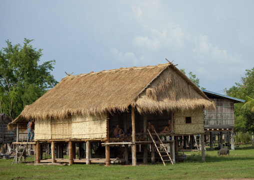 Bru minority house, Phonsaad, Laos