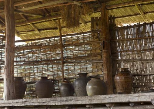Bru minority water pots, Phonsaad, Laos