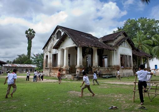 Old colonial school, Don khong island, Laos