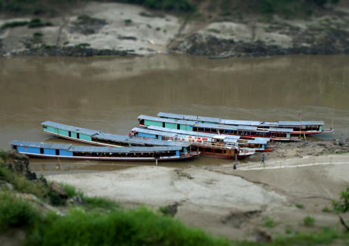 Speedboat on mekong river, Houei xay, Laos