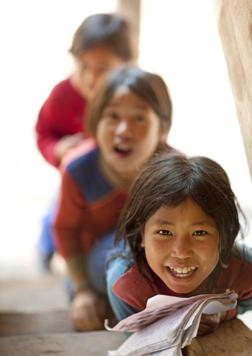 Akha minority kids, Ban ta mi, Laos