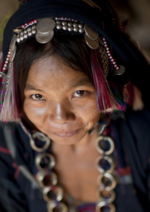 Akha ano minority woman, Muang sing, Laos