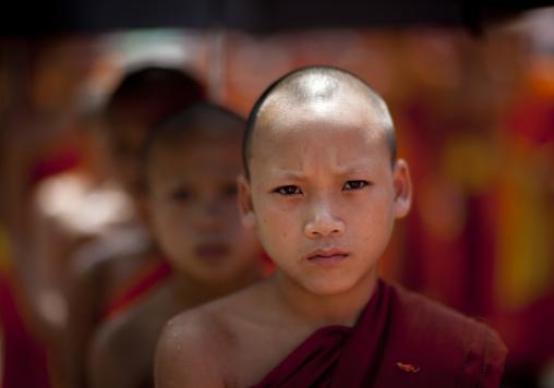 Novices monks during pii mai lao new year celebration, Luang prabang, Laos