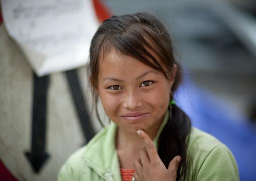 Hmong minority girl, Luang prabang, Laos