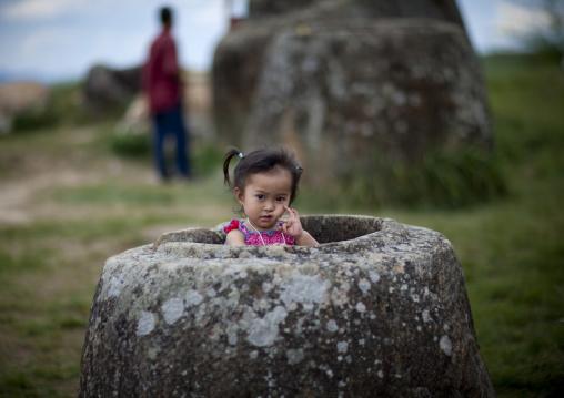 Little girl in a jar, Plain of jars, Phonsavan, Laos
