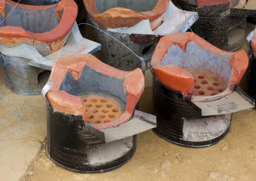 Coal burners, Phonsavan, Laos