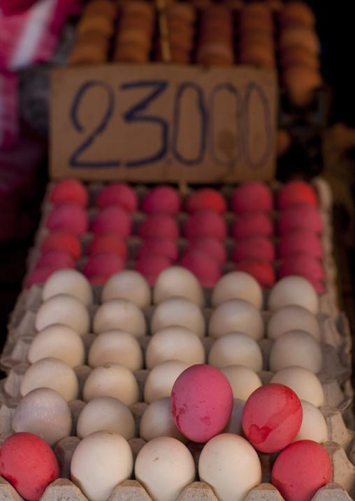 Eggs in a market, Vientiane, Laos