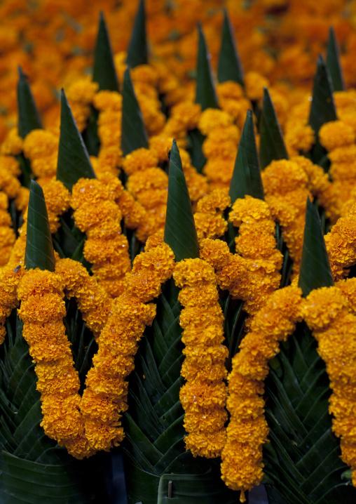 Wreaths of flowers, Vientiane, Laos