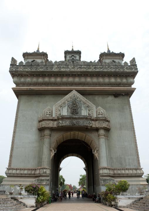 Arch of triumph, Vientiane, Laos