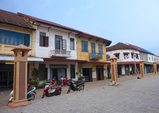 Old french colonial houses, Thakhek, Laos