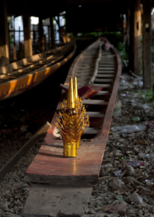 Monk boats, Savannakhet, Laos