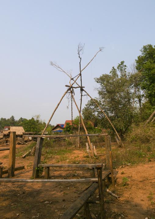 Akha minority swing, Nam deng, Laos