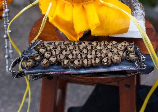 Bells For Hindu Devotees In Annual Thaipusam Religious Festival In Batu Caves, Southeast Asia, Kuala Lumpur, Malaysia