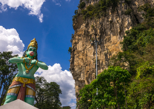 Colorful Statue Of Lord Hanuman In Ramayana Batu Caves, Southeast Asia, Kuala Lumpur, Malaysia
