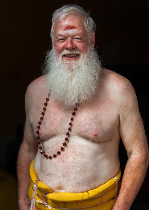 Carl, An Australian Hindu Devotee In Annual Thaipusam Religious Festival In Batu Caves, Southeast Asia, Kuala Lumpur, Malaysia