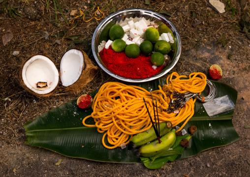 Hindu Offerings In Annual Thaipusam Religious Festival In Batu Caves, Southeast Asia, Kuala Lumpur, Malaysia