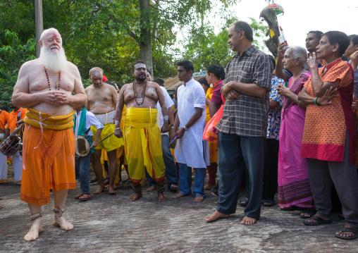 Carl, An Australian Hindu Devotee Holding A Skewer In Annual Thaipusam Religious Festival In Batu Caves, Southeast Asia, Kuala Lumpur, Malaysia