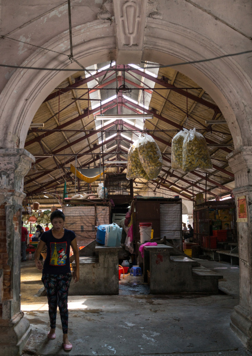 Central Market Hall Entrance, Penang Island, George Town, Malaysia