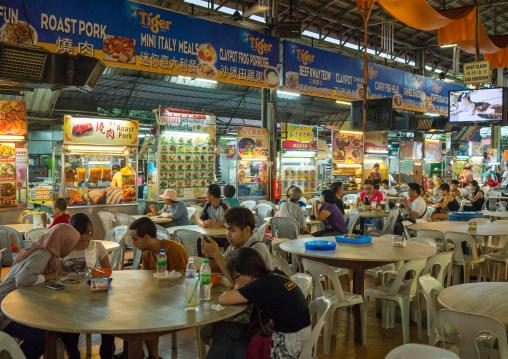 Night Food Stalls In Chinatown, Penang Island, George Town, Malaysia