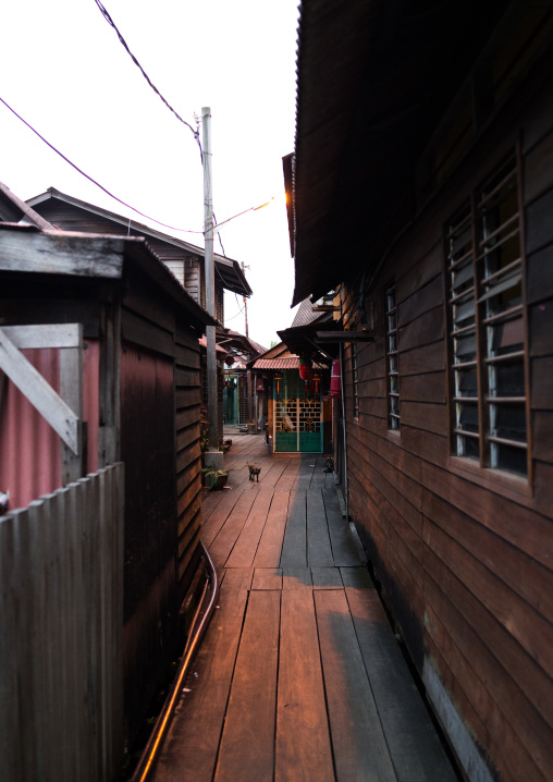 Alley In The Weld Quay Clan Jetties, Penang Island, George Town, Malaysia