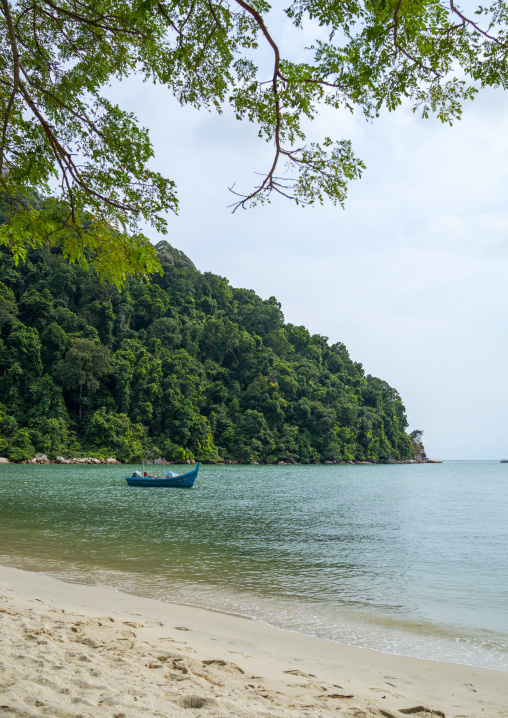 Boat In Monkey Beach In Nan National Park, Penang Island, George Town, Malaysia