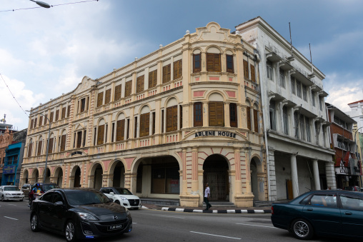 Old Colonial Building In The Unesco World Heritage Zone, Perak State, Ipoh, Malaysia