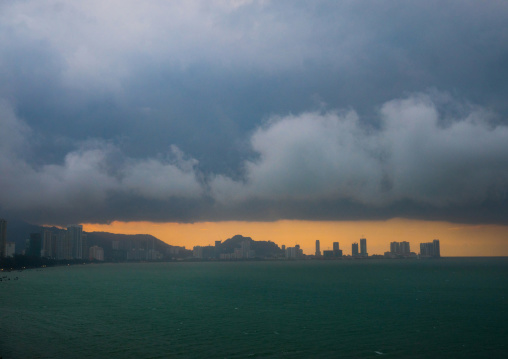 Stormy Clouds Over The City, Penang Island, George Town, Malaysia