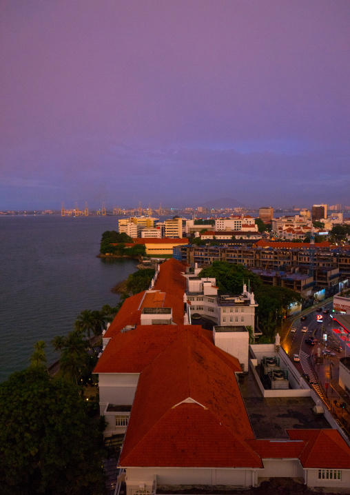 Elevated View Of The Colonial City, Penang Island, George Town, Malaysia