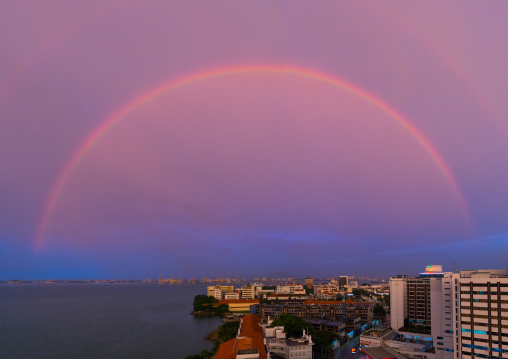 Rainbow Over The Sea, Penang Island, George Town, Malaysia