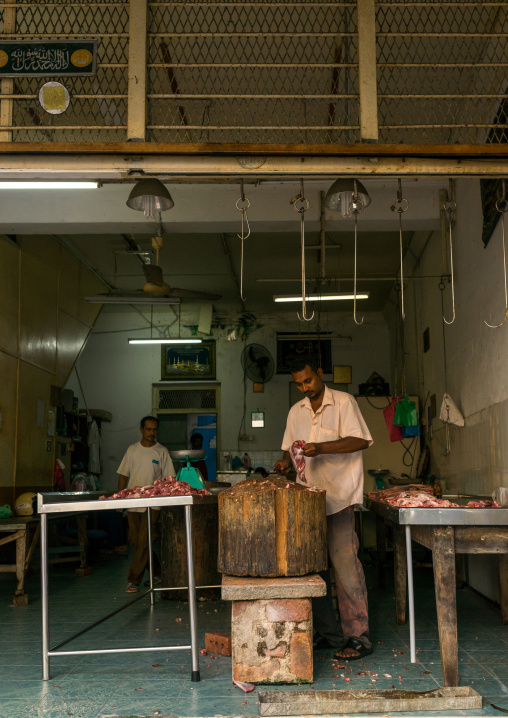 Butcher In Central Market, Penang Island, George Town, Malaysia