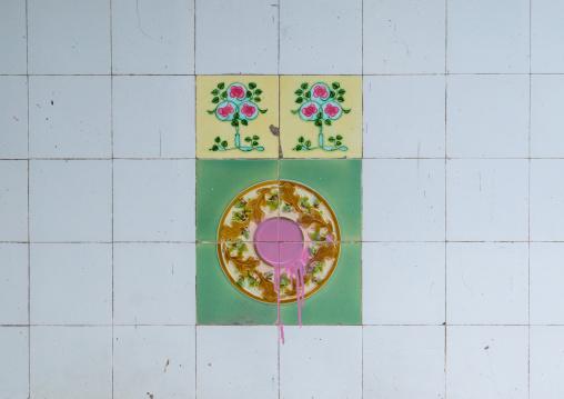 Colorful Mosaic Wall, Penang Island, George Town, Malaysia