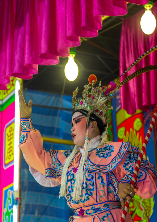 Chinese Opera Actor At Goddess Of Mercy Temple, Penang Island, George Town, Malaysia