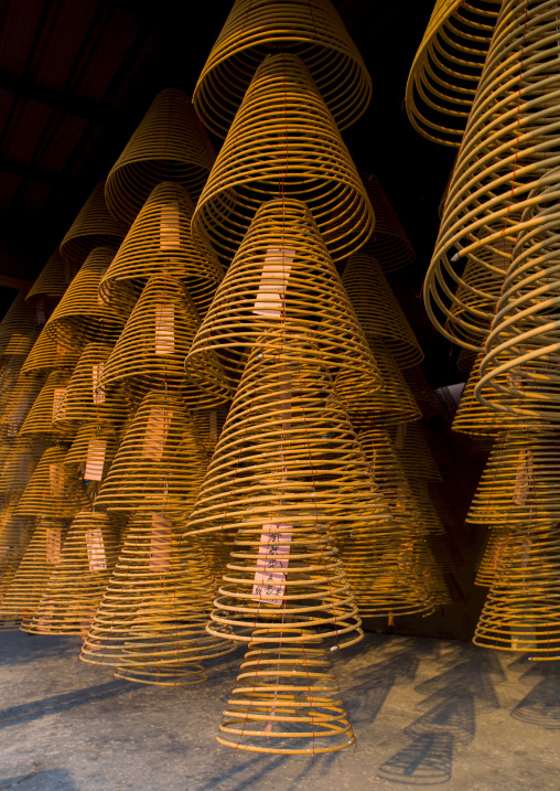 Big Round Hanging Incense In A Temple, Ipoh, Malaysia