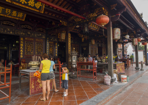 People Praying In Cheng Hoon Teng Temple, Malacca, Malaysia