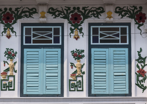 Old Colonial Windows, George Town, Penang, Malaysia