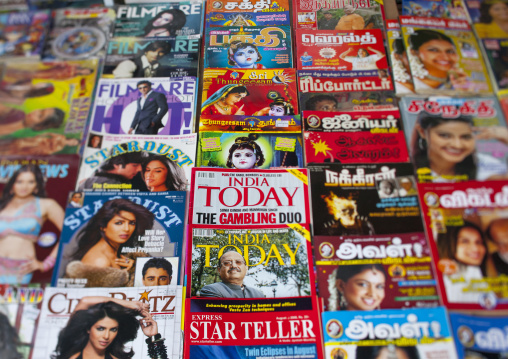Magazines And Newspapers At Street Stand, George Town, Penang, Malaysia