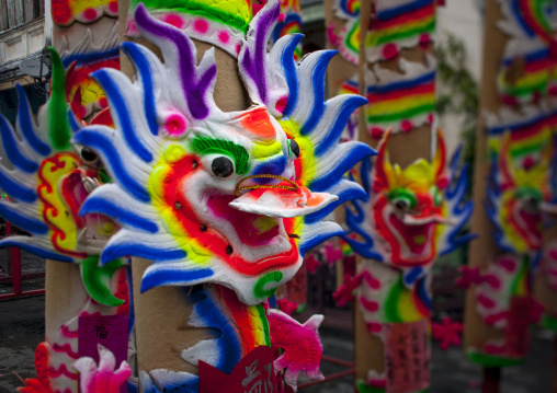 Dragons For Religious Celebration, George Town, Penang, Malaysia