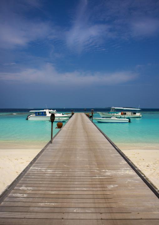 Jetty At Soneva Fushi Hotel, Baa Atoll, Maldives