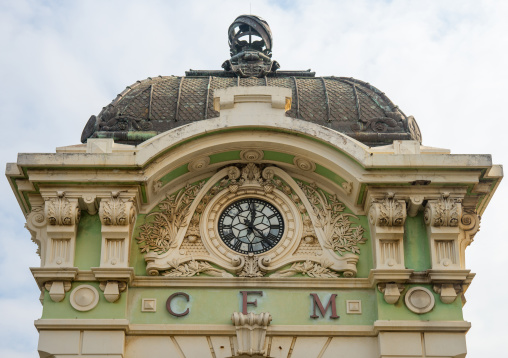Architectural Detail Of Central Train Station Tower, Maputo, Mozambique