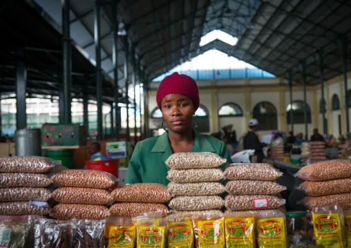 Seller In Mercado Central, Maputo, Mozambique