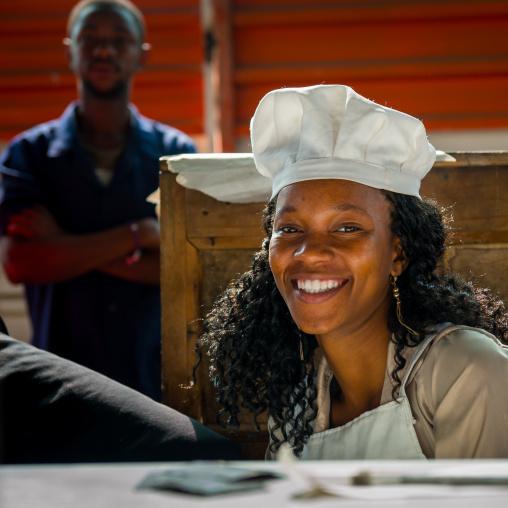 Cooker Woman In Mercado Central, Maputo, Mozambique