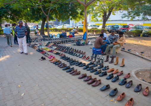 Man Selling Shoes In The Street, Maputo, Maputo City, Mozambique