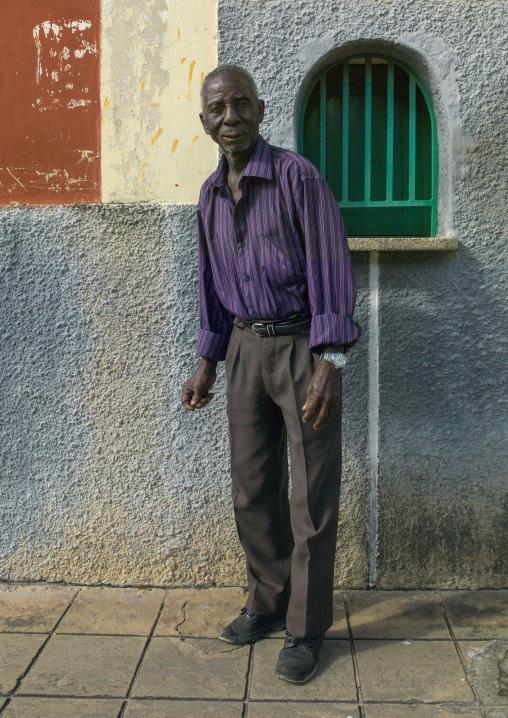 Old Man In The Street, Inhambane, Mozambique