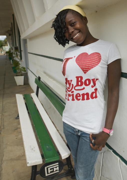 Smiling Young Woman, Inhambane, Inhambane Province, Mozambique