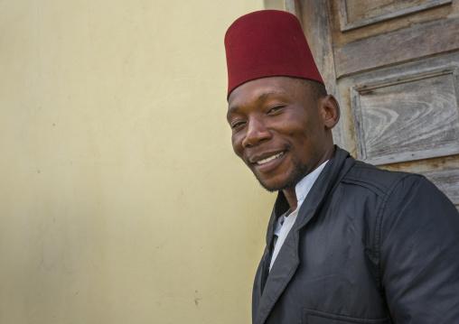 Muslim Man With A Red Hat, Inhambane, Mozambique