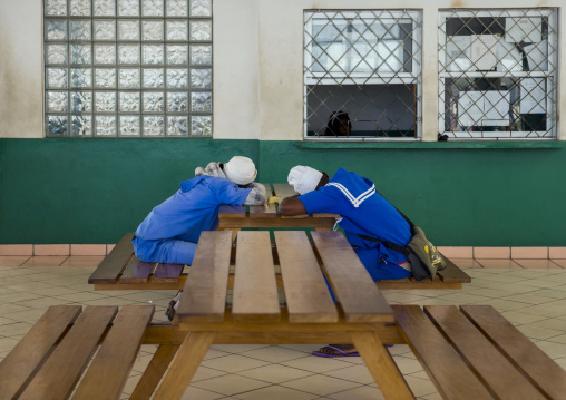 Men Sleeping On A Table, Inhambane, Mozambique