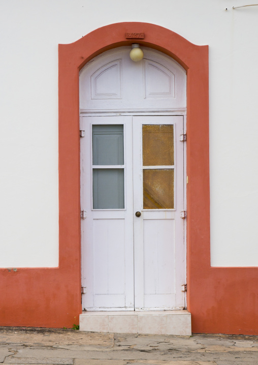 Old Portuguese Colonial Door, Inhambane, Inhambane Province, Mozambique