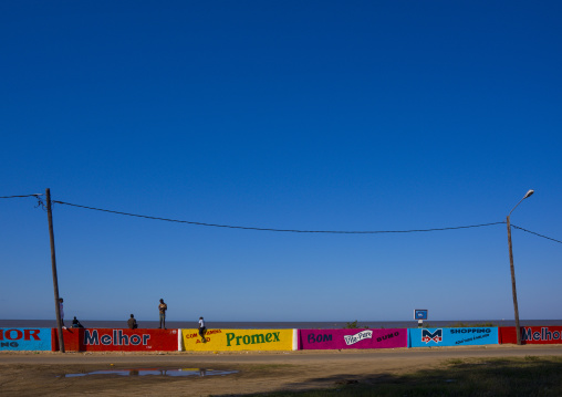 Advertising Signs On The Beach Front, Beira, Mozambique