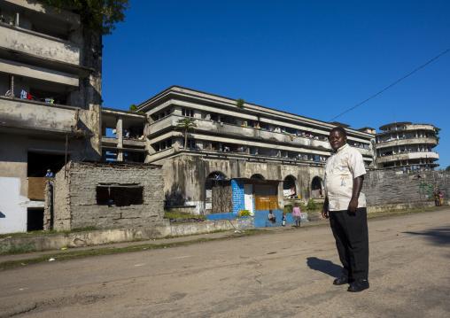 Chief In The Grande Hotel Slum, Beira, Mozambique